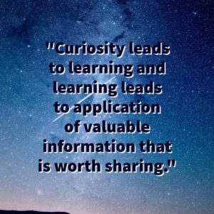 Curiosity leads to learning and success
