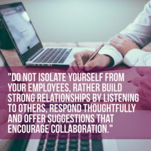 Dont isolate yourself