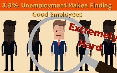 3.9% Unemployment Makes Finding Good Employees Extremely Hard