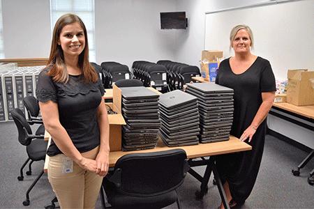 Independence University donates laptops