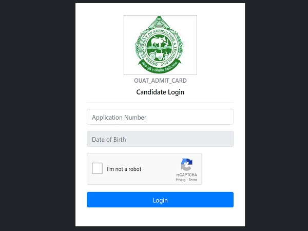 OUAT Admit Card 2021 Released