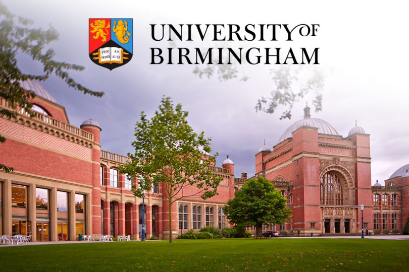 Achievement Award at University of Birmingham in UK 2020