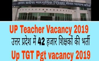 UP Teacher Vacancy 2019 : उत्तर प्रदेश में 42 हजार शिक्षकों की भर्ती