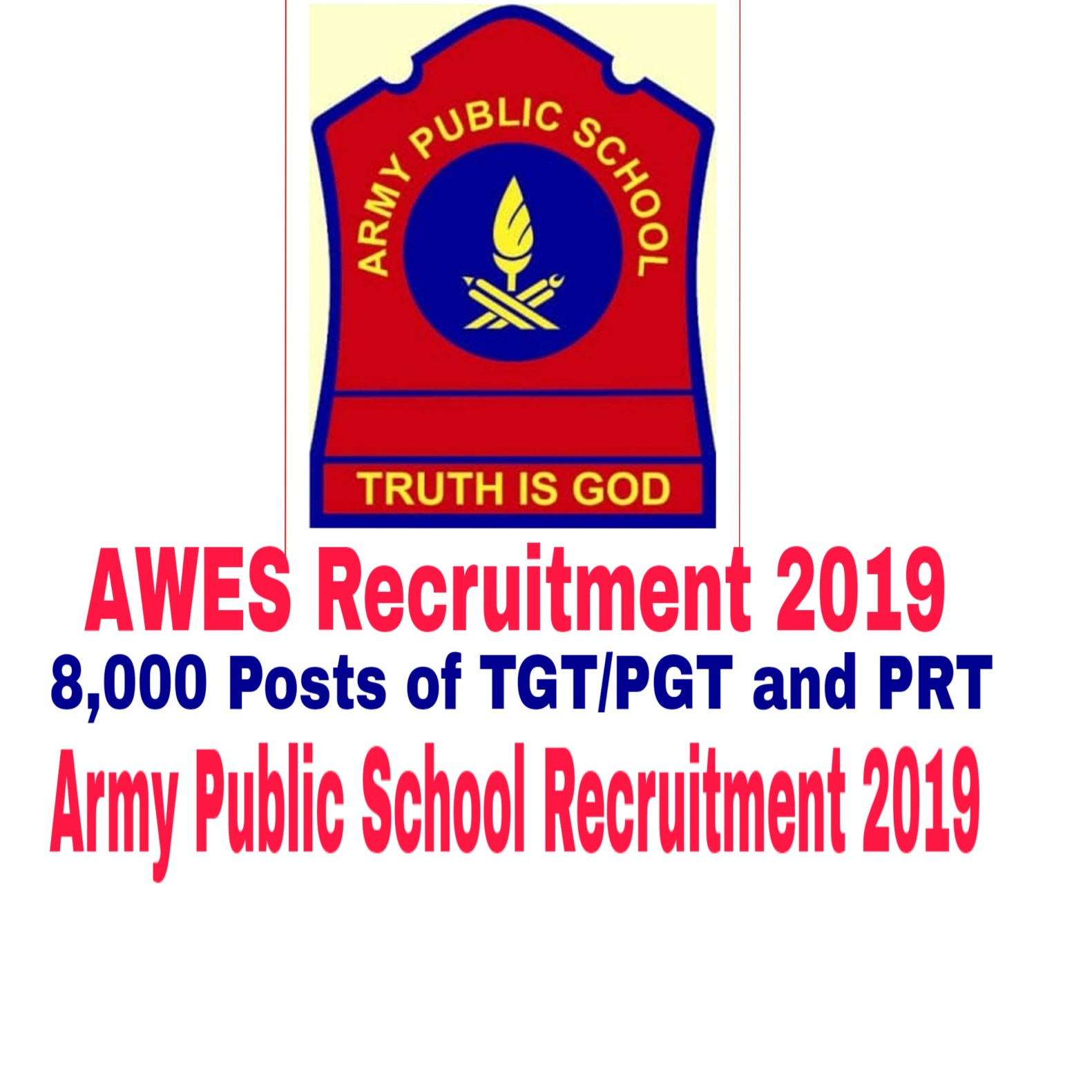 AWES Recruitment 2019 - 8,000 Posts of TGT/PGT and PRT