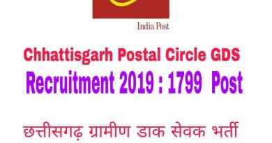 Chhattisgarh Postal Circle GDS Recruitment 2019