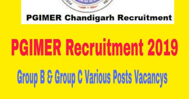PGIMER Recruitment 2019