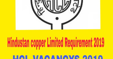 Hindustan Copper Limited Requirement 2019