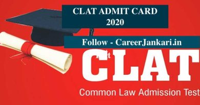 CLAT Admit Card 2020