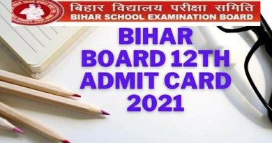 Bihar Board 12th Admit Card 2021