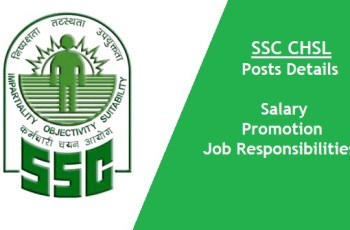 SSC CHSL Posts details in Hindi