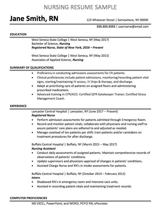 Registered Nurse Resume Sample Chegg