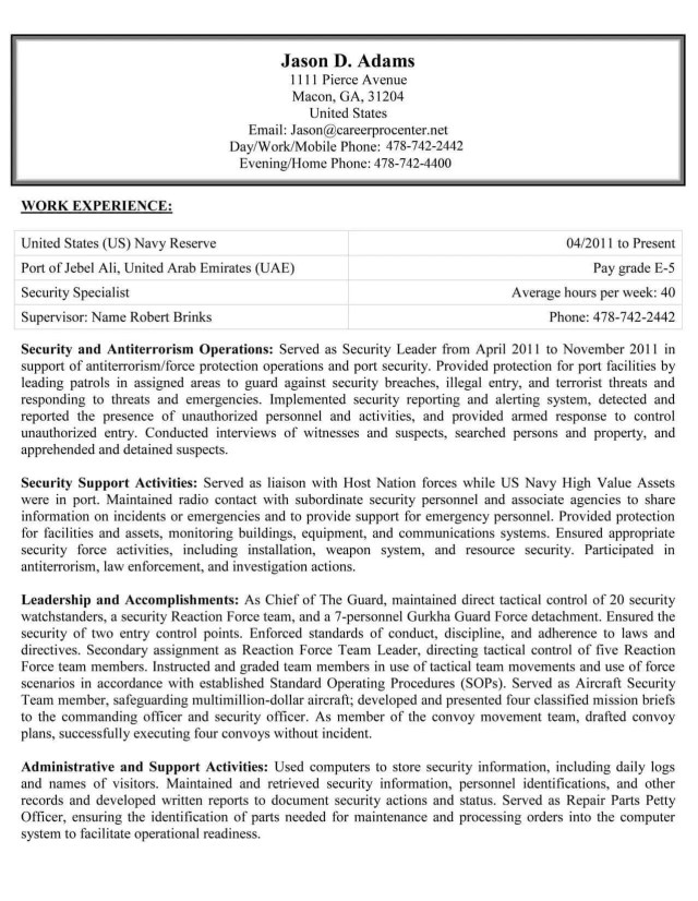 Federal Resume Tips, Examples & Templates  CareerPro Plus