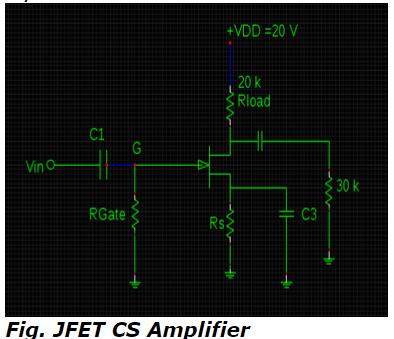JFEET CS Amplifier