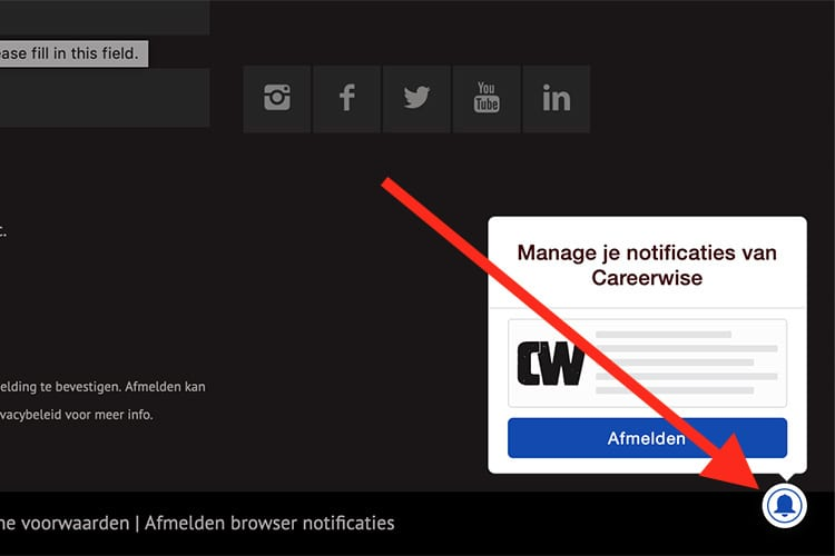 Careerwise Browser Notificaties Uitzetten