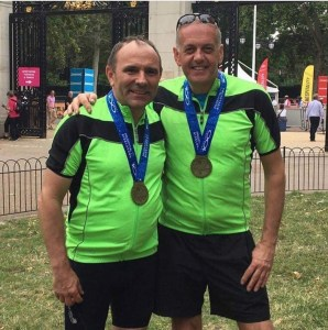 Ride London team 2019 - Steve Pepper and Craig Jackson