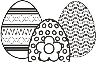 Easter egg colouring sheet