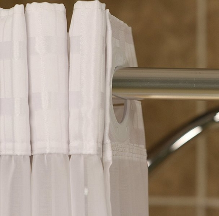 bench buddy hookless shower curtain simplicity