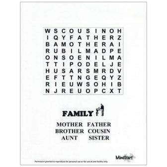 Mind Start Easy Word Search Puzzles Useful For Adults