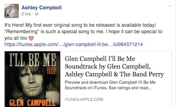 Ashley Campbell Glen Campbell I'll Be Me Soundtrack