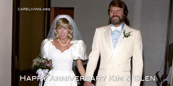 Kim and Glen Campbell wedding