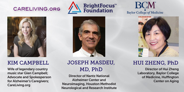 BrightFocus Alzheimer's Panel at Baylor College of Medicine with Kim Campbell, Dr. Joseph Masdeu and Dr. Hui Zheng