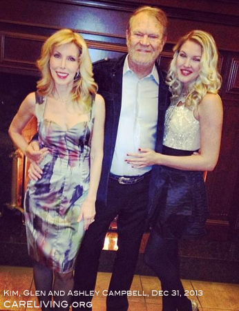 Kim, Glen and Ashley Campbell celebrating New Years Eve, 2013 for CareLiving.org. Happy New Year!