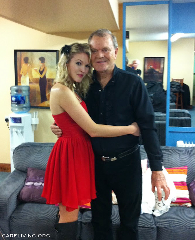 Ashley and Glen Campbell