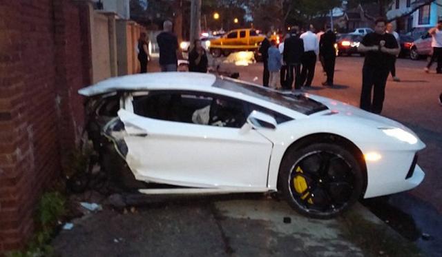 Lamborghini Cut In Half In Car Crash
