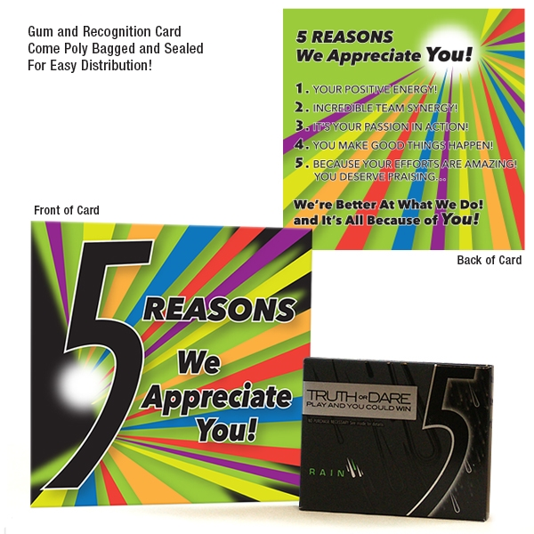 5 Reasons We Appreciate You Wrigleys 5 Gum Amp Card