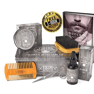 Beard Grooming Kit with Beard Balm Oil Comb