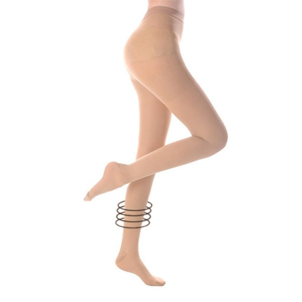 Compression Pantyhose 20-30 mmHg High Waist Support Stockings Beige Color