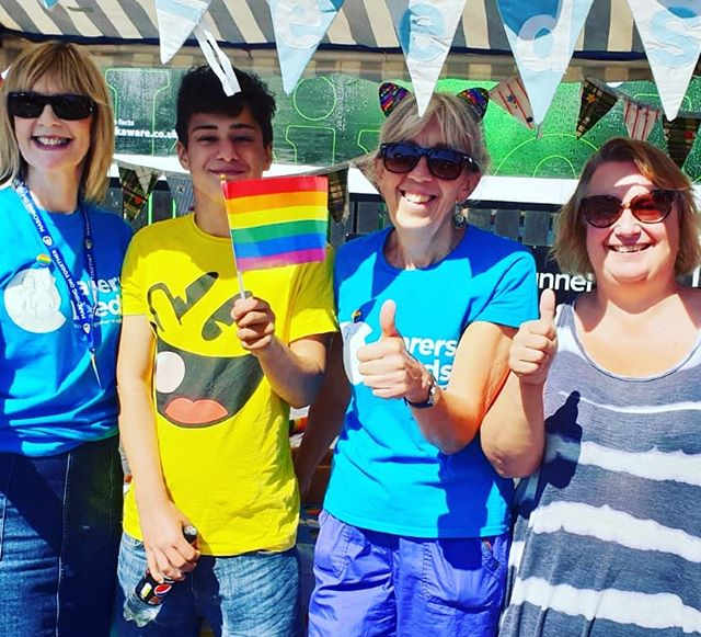 It's a big thumbs up from the Carers Leeds gang at – here to support🌈 carers across Leeds.