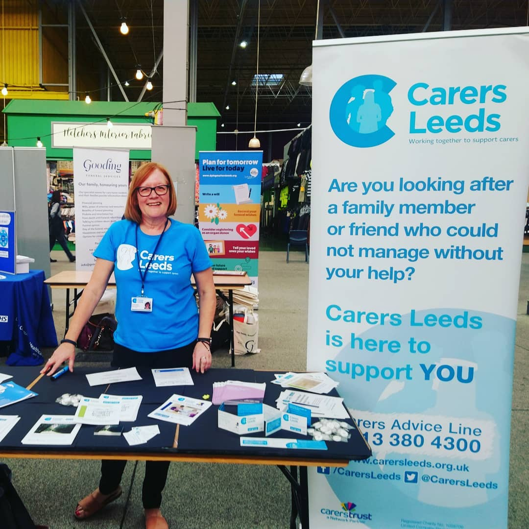 Come to @leedsmarkets today to  chat to our lovely Bereaved carer support worker Sue as part of