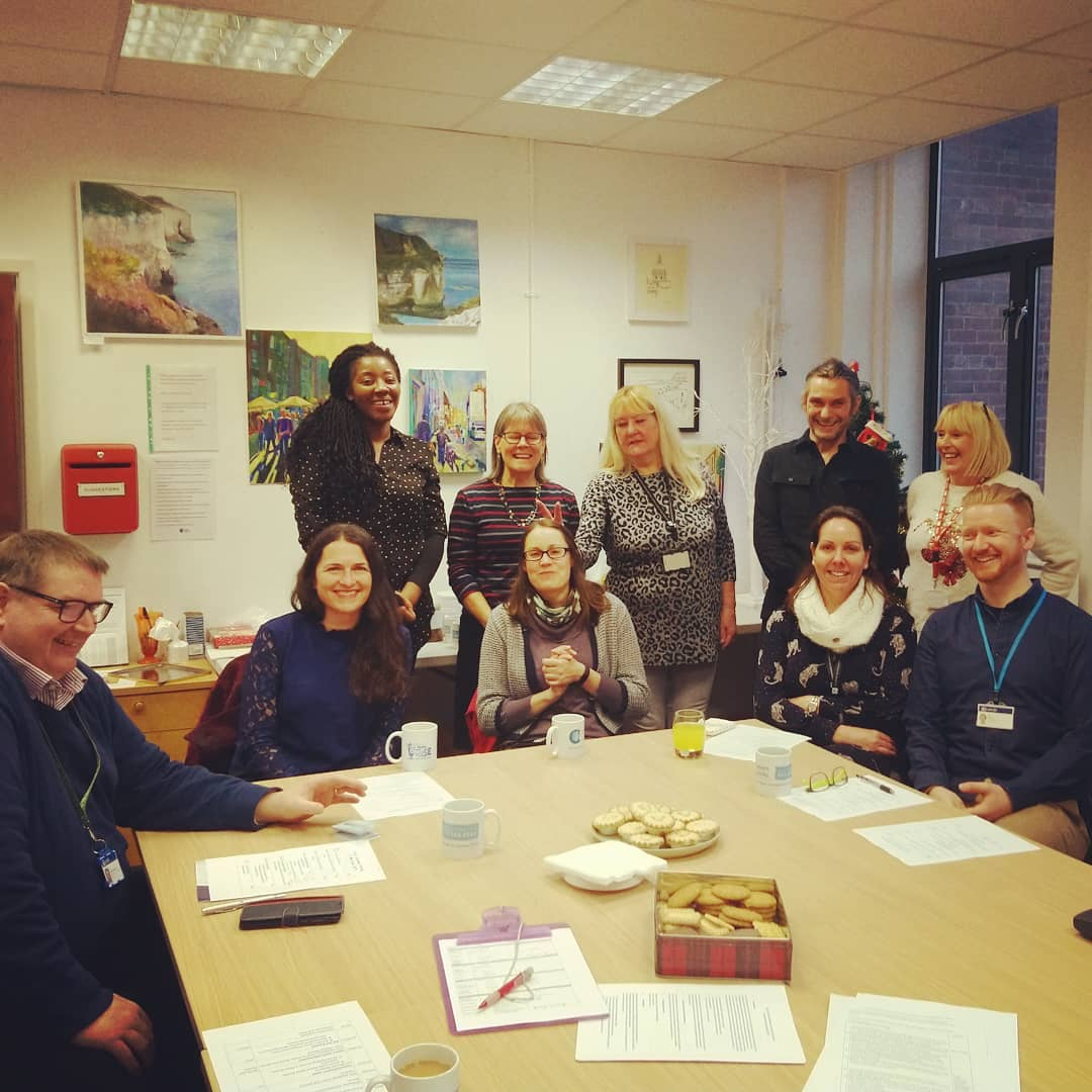 All smiles for the start of our carers champion meeting with Leeds adult social care