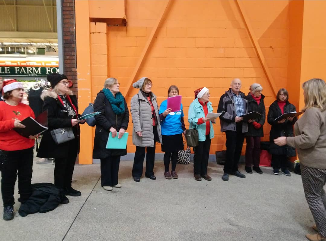 Our Festive sing a long has begun. Join us at @leedsmarket to hear our fantastic choir