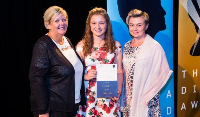 Young carer Ellie receives award