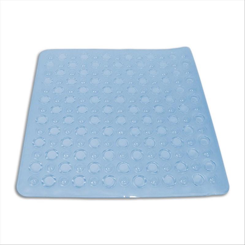 tapis de douche antiderapant bleu