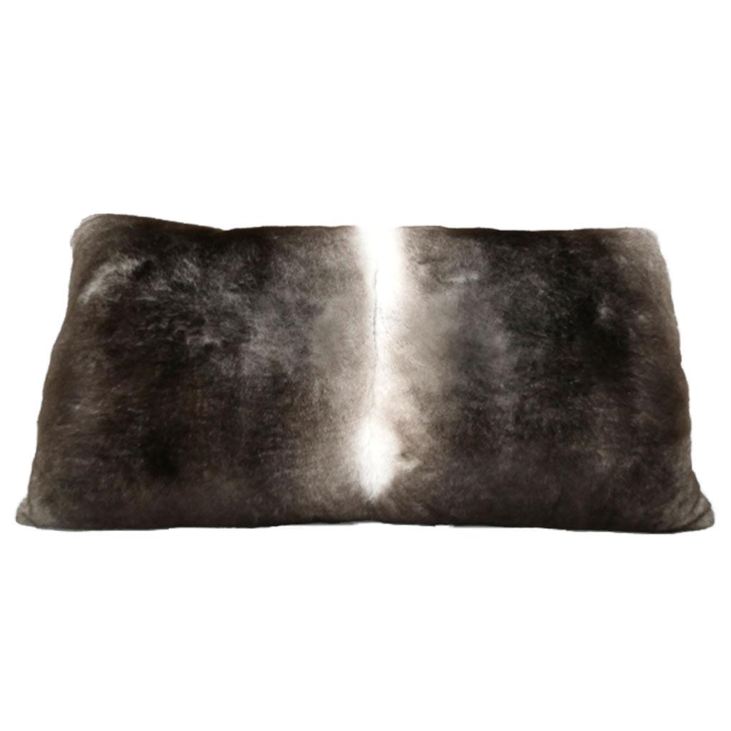 rectangular fur cushion