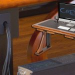 Wood Cable Management Desks Tables For Home And Office Caretta