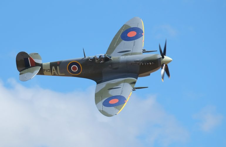 Spitfire Flypast at Wings Over Carew 2018