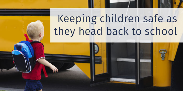 Keeping children safe as they head back to school