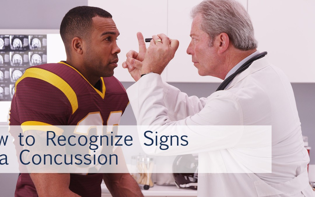 How to recognize signs of a concussion
