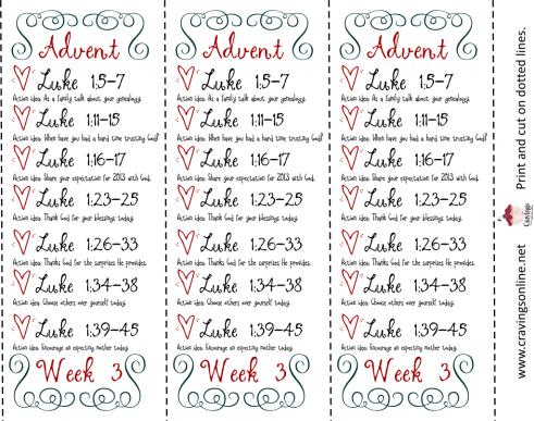 Week 3 Advent Bookmark