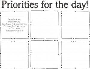 November Post It Note Priorities Prinatable