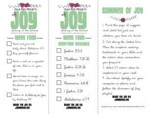 Summer of Joy Week 4
