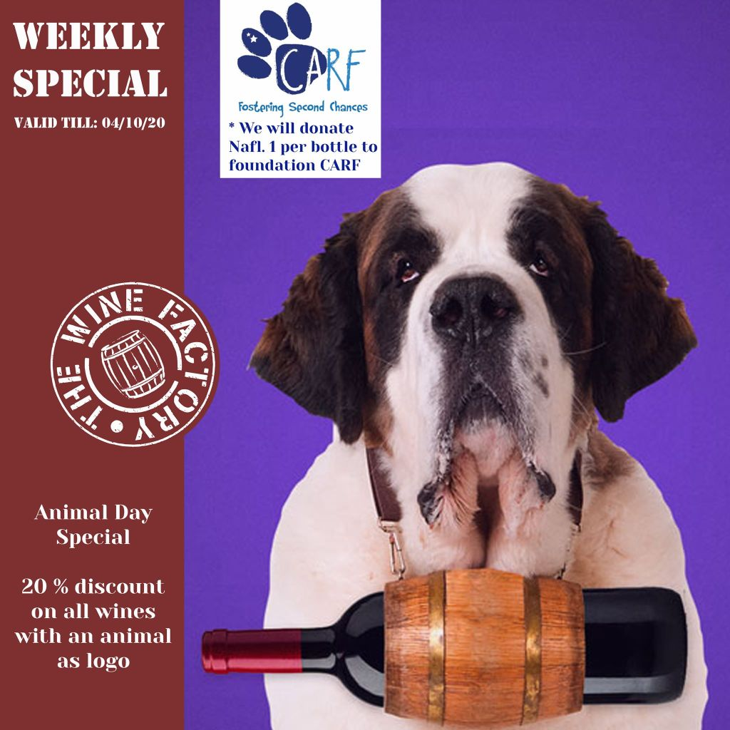 The Wine Factory Curaçao supports Dog Rescue