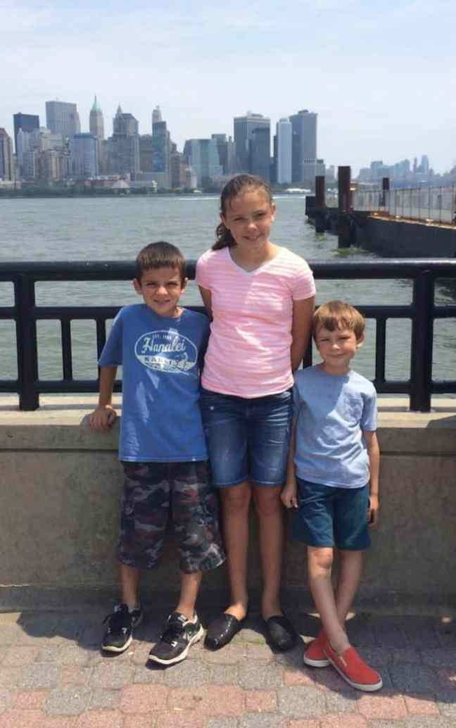Visit the Statue of Liberty with kids.