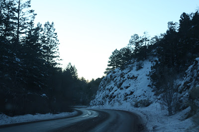 New Mexico Highway 475 up to Ski Santa Fe.