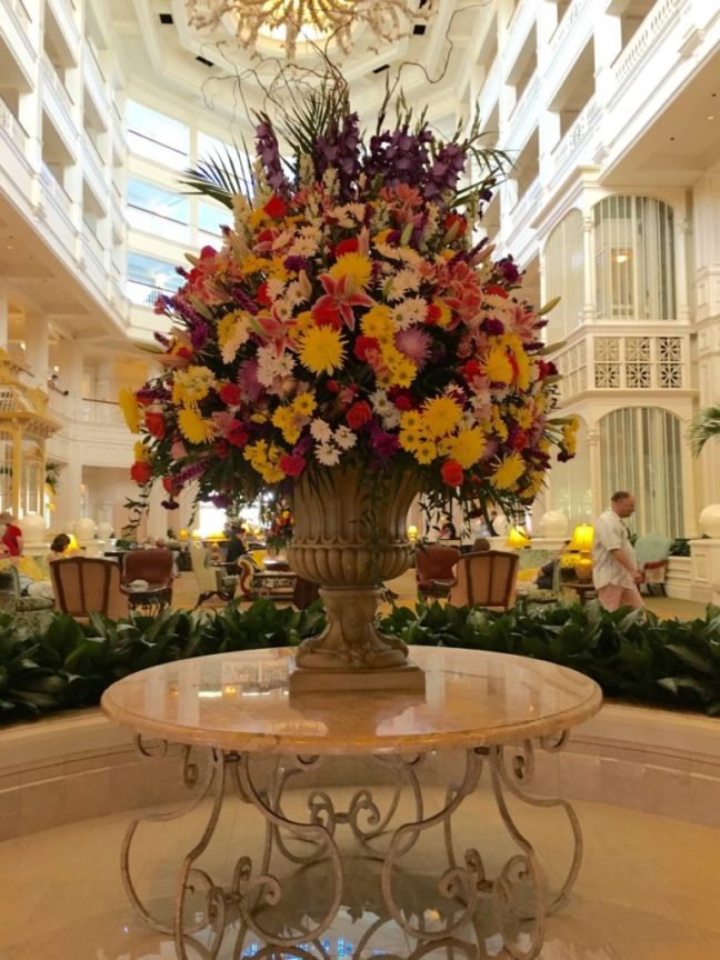 Interior of the Grand Floridan Resort in Disney World