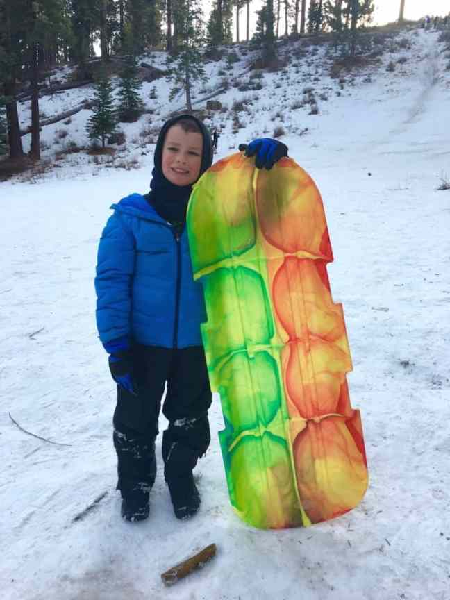 Free sledding hill near Lake Tahoe and Carson City